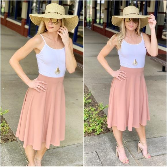 Infinity Raine Dresses & Skirts - ✨RESTOCKED✨Blush midi skirt